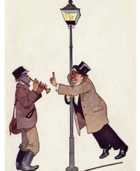 drunkards at a Lampost