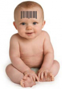Baby with barcode