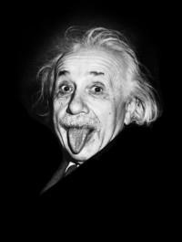 Albert Einstein Tongue out